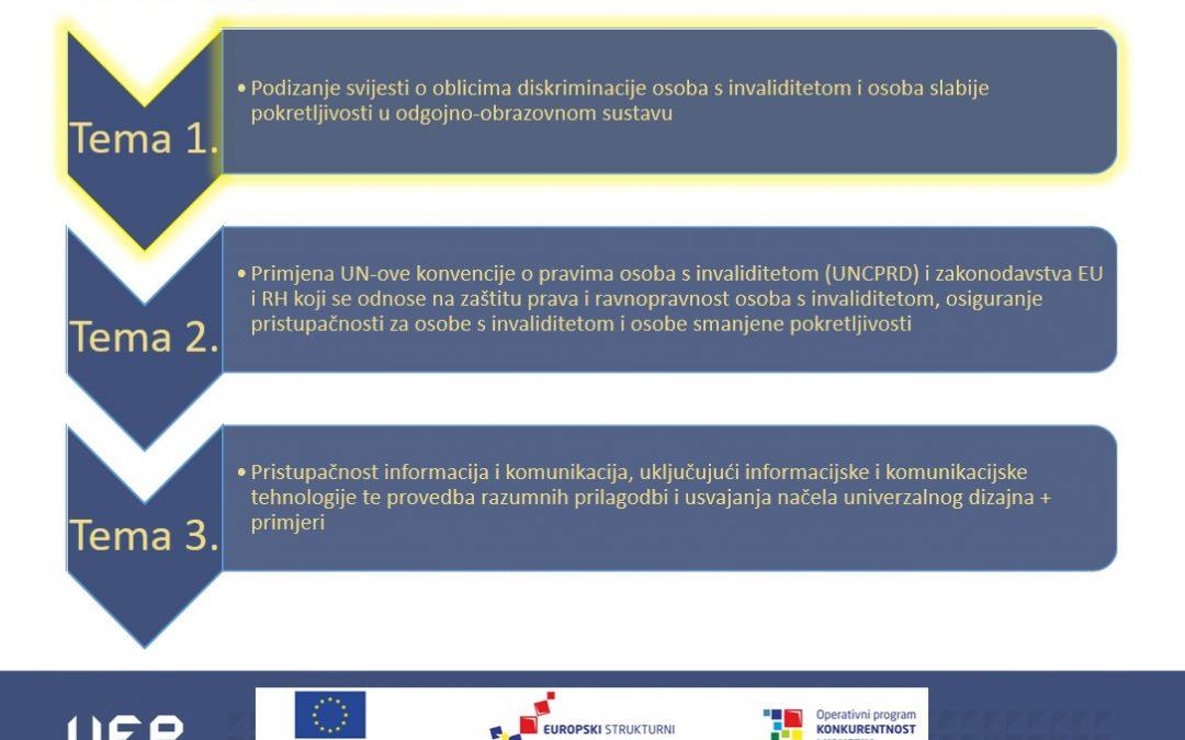 """Održana edukacija o horizontalnim načelima na temu """"Pristupačnost za osobe s invaliditetom"""""""